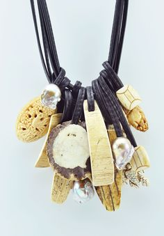 Monies Carved Bone, Mammoth Bone, Antler, Ebony & Pearl Necklace » Santa Fe Dry Goods | Clothing and accessories from designers including Issey Miyake, Rundholz, Yoshi Yoshi, Annette Görtz and Dries Van Noten