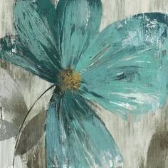 A contemporary update on impressionist paintings, this touching painting print uses color, texture, and hand-applied brushstroke technique to showcase a ditsy flower in full bloom in soothing hues of blue green and gray. Establish a clean, inviting aesthetic in your open concept living room by rolling out a medallion-print area rug to define the space, then set an espresso-hued end table with tapered square legs on each side of a puffy Lawson sofa with plush pillowtop arms. Accessorize the…