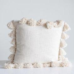 Cream Pillow w/ Tassels