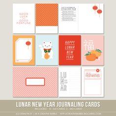 Lunar New Year Journaling Cards (Digital)