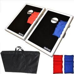 Go Pong CornHole Bean Bag Toss Game Set - Superior Aluminum Frame