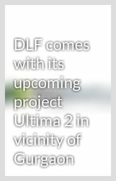 DLF Ultima Phase II is a part of the massive development of DLF Garden City that sits on 600 acres of land. Beautifully designed homes are available in only 3 BHK varieties with a servent room. 2 parking spaces have been dedicated to the owners of the 3 BHK apartments.