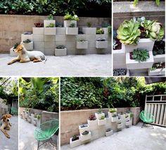 12 avantages à faire son jardin avec des blocs de béton! Jardin lit surélevé. - Trucs et Astuces - Des trucs et des astuces pour améliorer votre vie de tous les jours - Trucs et Bricolages - Fallait y penser !