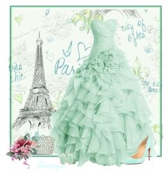 """""""Paris Nightlife"""" by sherryvl ❤ liked on Polyvore featuring York Wallcoverings, Elie Saab, Christian Louboutin and Kendra Scott"""