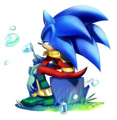 He is the most serious counterpart of Sonic I have ever seen. Amy Rose, Shadow The Hedgehog, Sonic The Hedgehog, Hedgehog Movie, Sonic And Amy, Sonic And Shadow, Little Games, Blowing Bubbles, Sonic Art