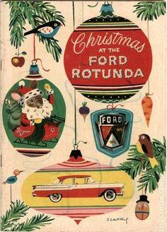 Ford Rotunda Christmas Book 1956 #1956 #Ford #Rotunda