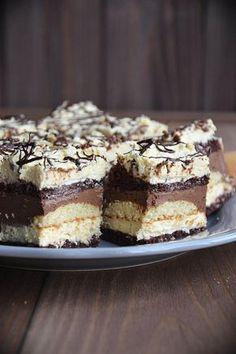 Ciasto chałwowo-czekoladowe Nutella, Tasty, Yummy Food, Polish Recipes, Vegan Cake, Homemade Cakes, Food To Make, Cake Recipes, Cake Decorating