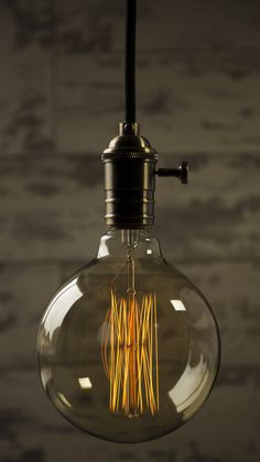 X Large Squirrel cage Light bulb Edison Lighting, Unique Lighting, Vintage Lighting, Lighting Ideas, Round Light Bulbs, Vintage Light Bulbs, Lights Over Dining Table, Vintage Globe, Ceiling Rose