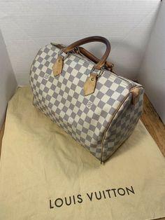 23c6a094f12c Louis Vuitton LV Speedy 30 Hand Bag N41533 Damier Azur White 2951  fashion   clothing