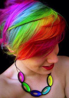 Rainbow pixie cut  - too bad it's a bitch to upkeep.