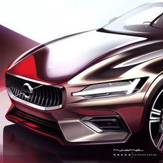 2018 | Volvo V60 | Render by Maxime Prevoteaux ( @maxime_cx ) | #gtd_se #gtd_volvo #gtd_maximeprevoteaux #cars #artwork #design #sketch…