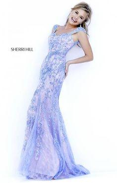 lavender sparkly sherri hill