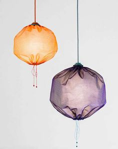 The Drawstring Lamp by Merry-Go-Round is Funky and Eco-Friendly #luxury trendhunter.com