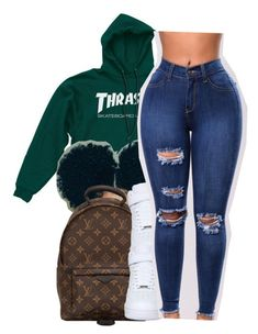 """""""Lame n!ggaz[Asian Doll]"""" by maiyaxbabyyy ❤ liked on Polyvore featuring Louis Vuitton and NIKE"""