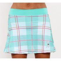 caribbean plaid running skirt