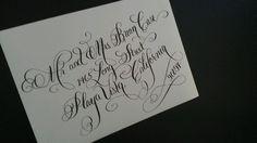 Platinum flourish calligraphy at an angle