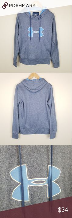 a6a468338639 Under Armour Navy Blue Hoodie size Medium Gently used womens Under Armour  navy and light blue