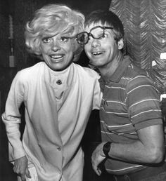 carol channing and family | Carol Channing and Robert Morse clown around piror to press conference ...