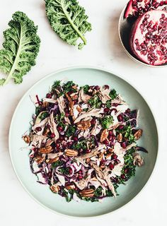 Duck Christmas Salad with Walnuts, Kale, Pomegranate, Fennel and Chili