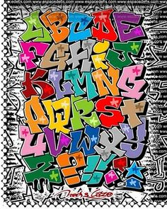 graffiti alphabet letters, there are loads of examples of graffiti alphabets on pintrest.
