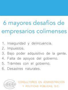 Principales desafíos de los empresarios en el estado de Colima.