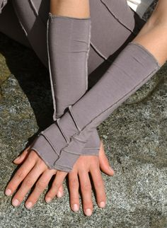 Leaf Armwarmers - Bamboo - Made in Canada - $18
