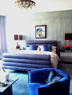 kelly wearstler tribeca home - love the channel bed!