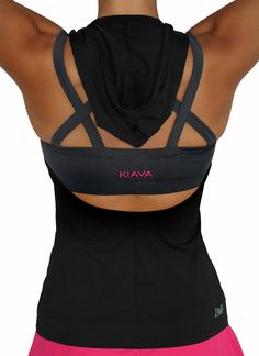 The Black WarmUp Halter with our Charcoal Grey Endurance Bra!