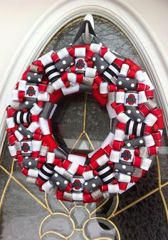 Ohio State Buckeyes Wreath by WeHaveWreaths on Etsy
