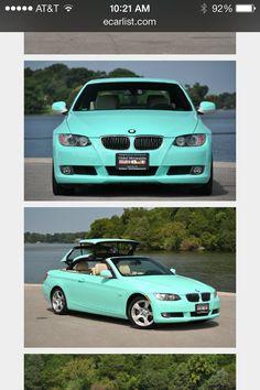 Tiffany Blue BMW ConvertibleI Want