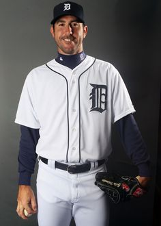 LAKELAND, FL - FEBRUARY 28:  Justin Verlander #35 of the Detroit Tigers poses for a portrait on February 28, 2012 at Joker Marchant Staduim in Lakeland, Florida.  (Photo by Elsa/Getty Images)