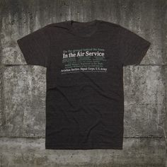 In The Air Service T-Shirt, 35€, now featured on Fab.