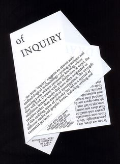 Articles of Inquiry