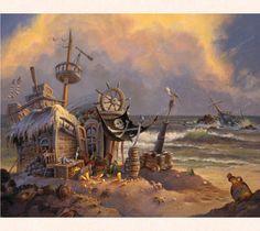 Shipwrecked pirate hut or personal escape?
