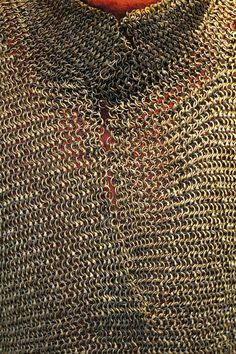 European riveted mail hauberk, 15th century, detail view, Cleveland Museum of Art. F4.