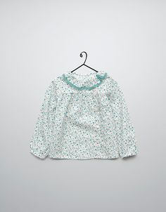 flowered shirt with lace edging - Shirts - Baby girl (3-36 months) - Kids - ZARA United States