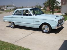 The first car I ever wanted: a baby blue Ford Falcon