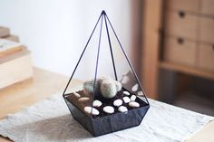 glass terrarium pyramid by boxwoodtree on Etsy, $60.00