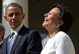 Robert Scheer: Obama Did It for the Money - Truthdig --The love fest between Barack Obama and his top fundraiser Penny Pritzker that has led to her being nominated as Commerce secretary would not be so unseemly if they both just confessed that they did it for the money. Her money, not his, financed his rise to the White House from less promising days back in Chicago.