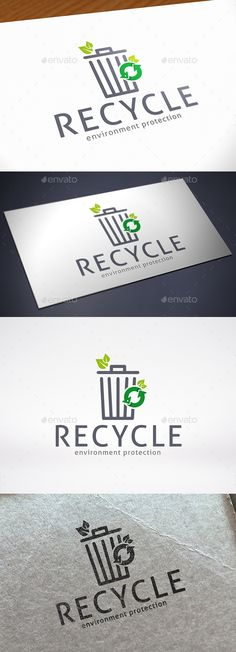 Trash Recycle Logo Template — Vector EPS #eco #ecology • Available here → https://graphicriver.net/item/trash-recycle-logo-template/12268621?ref=pxcr