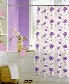 Peace Sign Bathroom Sets | Amazon.com   Peace Signs Purple And Pink Vinyl  Shower