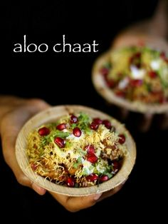 aloo chaat recipe, how to make spicy alu chaat, potato chaat with step by step photo/video. popular steet food of delhi/mumbai prepared with potato wedges. Entree Recipes, Vegetarian Recipes, Snack Recipes, Cooking Recipes, Appetizer Recipes, Dinner Recipes, Healthy Recipes, Papdi Chaat, Chaat Masala