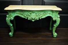 Ornate plastic table painted with Emily Ann Chalk Paint