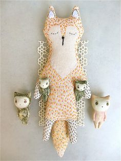 sleepy fox from Kate: with the tiny kittens :) by alleluja on Flickr.darling Mr Fox at home