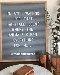 Changeable quotes keep the fairytale alive! Get creative with your sayings, and follow us on IG for more fun ideas! 16x20 Gray Felt Letter Board -- www.mcleodletter.co