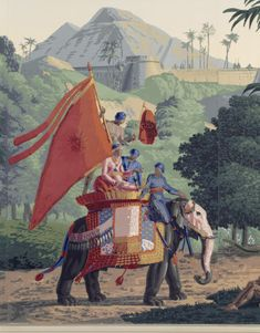 Zuber L'Hindoustan Wallpaper designed by Pierre Mongin in 1807, has an Indian theme at Basildon Park, Berkshire