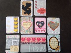 Handmade Project life cards: So many hearts by CodisCustomCards Pocket Scrapbooking, Scrapbooking Ideas, Scrapbook Layouts, Project Life Cards, Life Inspiration, Journal Cards, Make Your Own, Embellishments, Journaling