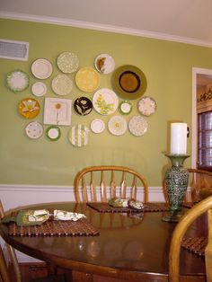 Running from the Law: Home Project - Dining Room Plate Wall