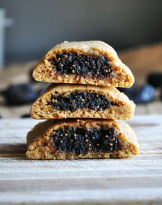 homemade fig newtons are so much better than packaged fig cookies. tith a rich fig filling, these soft, tender cookies are worth the effort. Cookie Recipes From Scratch, Healthy Cookie Recipes, Healthy Cookies, Baking Recipes, Dessert Recipes, Fig Recipes, Party Desserts, Brownie Recipes, Healthy Desserts