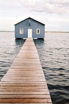 Blue house in the middle of water | Architecture. Architektur | Inspiration @ http://tomoliveroneill.tumblr.com/post/48270810653 |